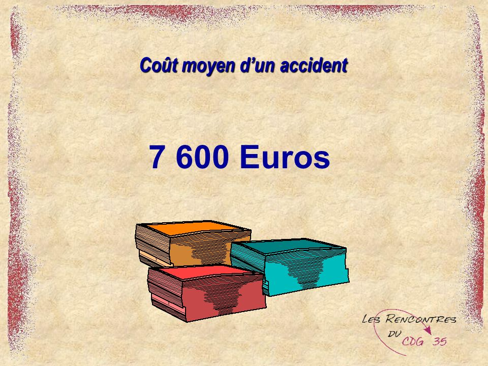 Coût moyen d'un accident