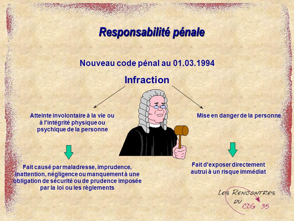 Responsabilité pénale