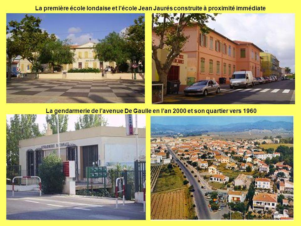 La première école londaise et l'école Jean Jaurés construite à proximité immédiate