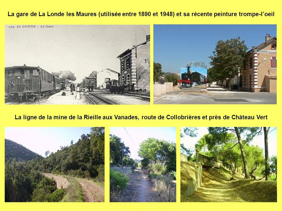 La gare de La Londe les Maures (utilisée entre 1890 et 1948) et sa récente peinture trompe-l'oeil