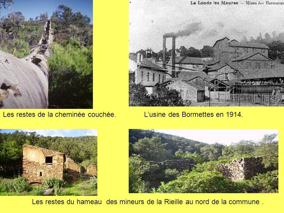 Les restes du hameau des mineurs de la Rieille au nord de la commune .