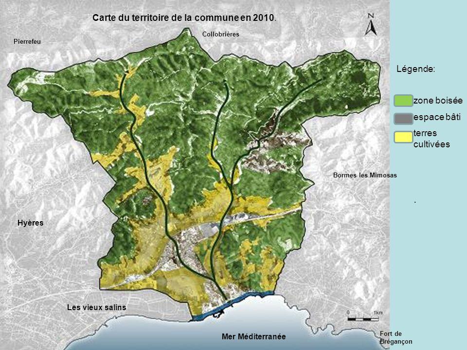 Carte du territoire de la commune en 2010.