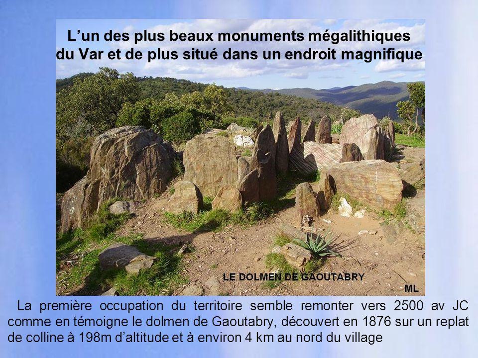 L'un des plus beaux monuments mégalithiques du Var et de plus situé dans un endroit magnifique