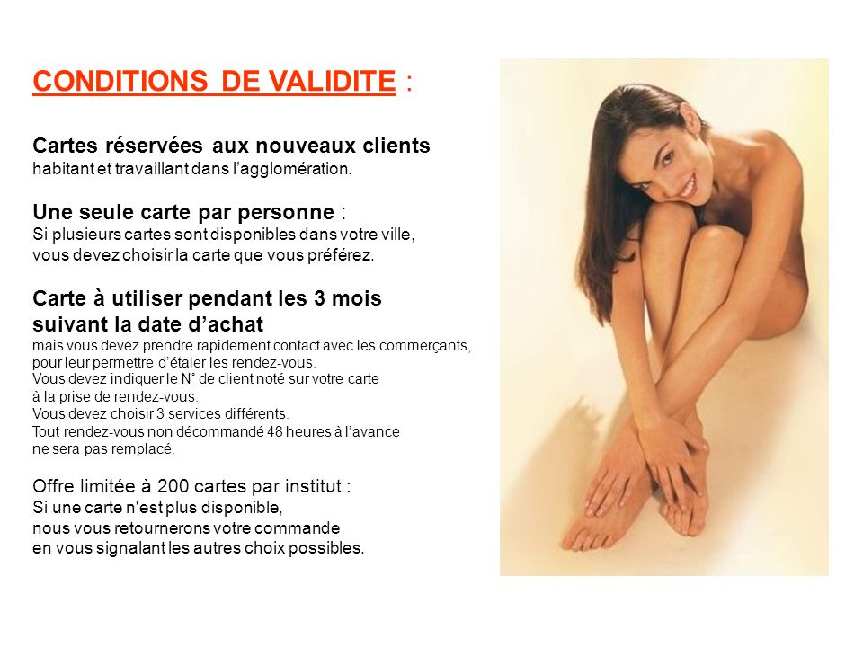 CONDITIONS DE VALIDITE :