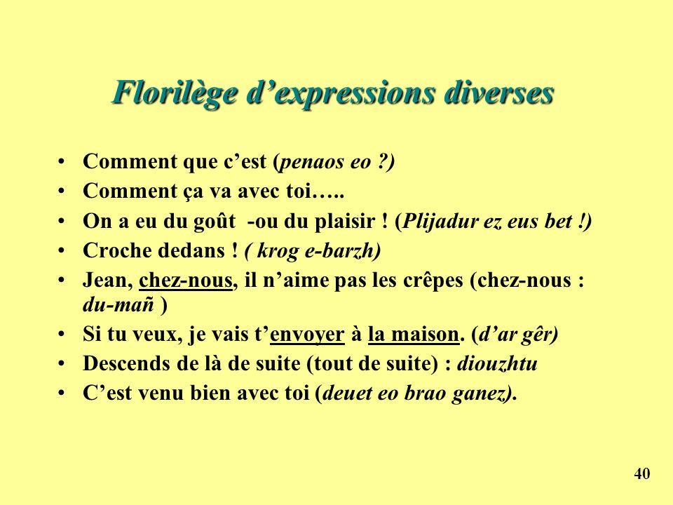 Florilège d'expressions diverses