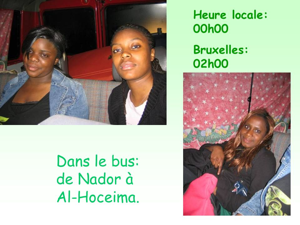 Dans le bus: de Nador à Al-Hoceima.