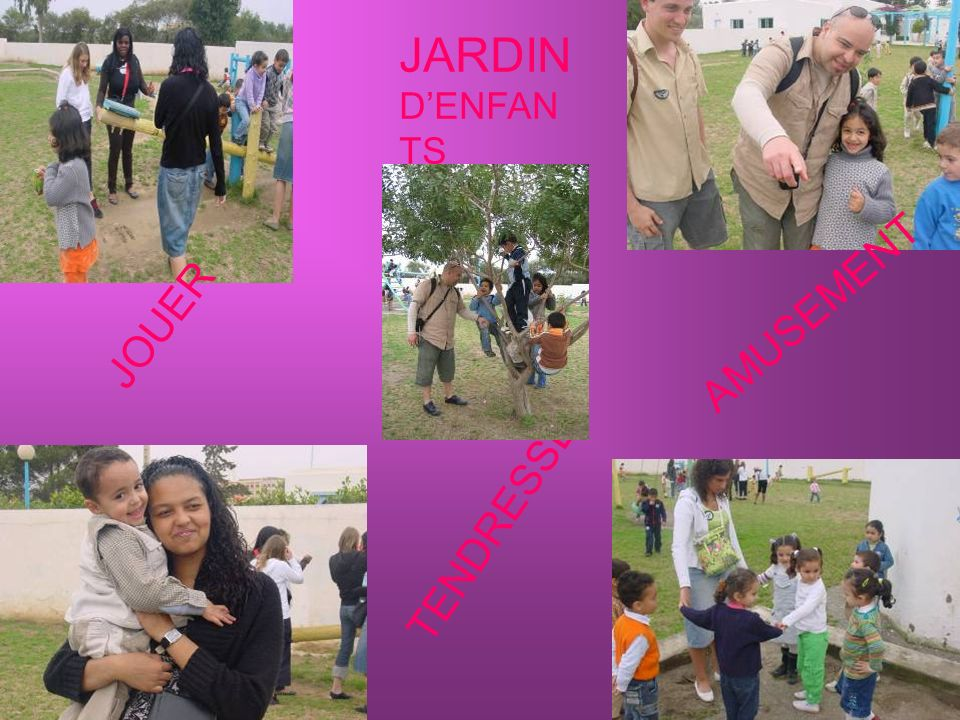 JARDIN D'ENFANTS JOUER AMUSEMENT TENDRESSE