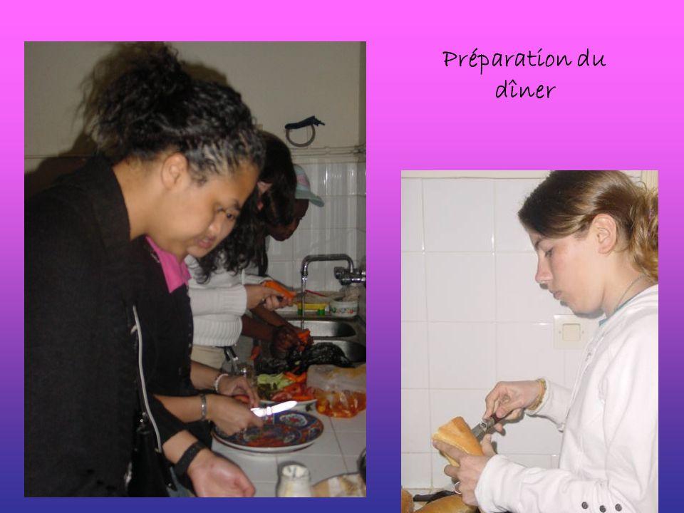 Préparation du dîner