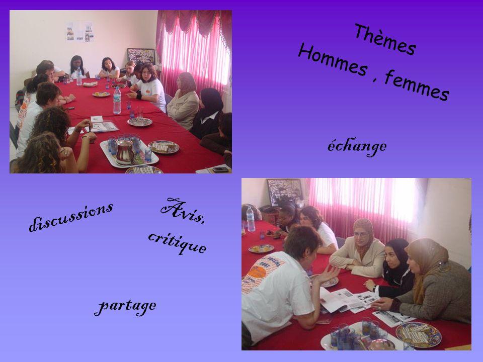 Thèmes Hommes , femmes échange Avis, critique discussions partage