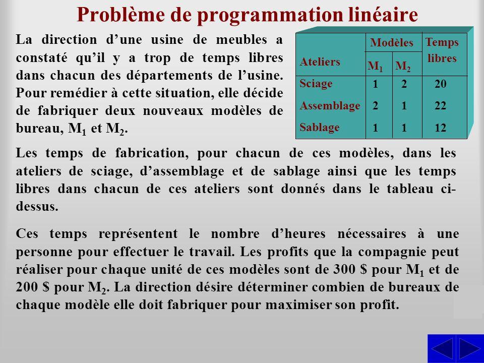 Problème de programmation linéaire
