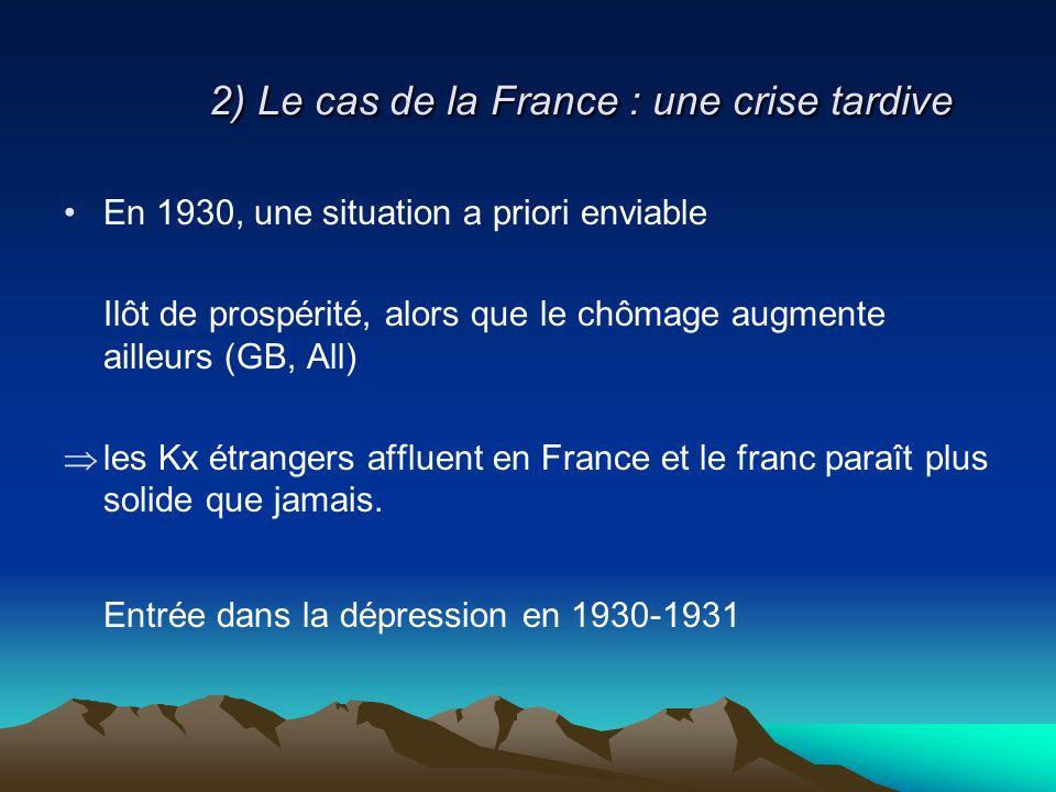 2) Le cas de la France : une crise tardive