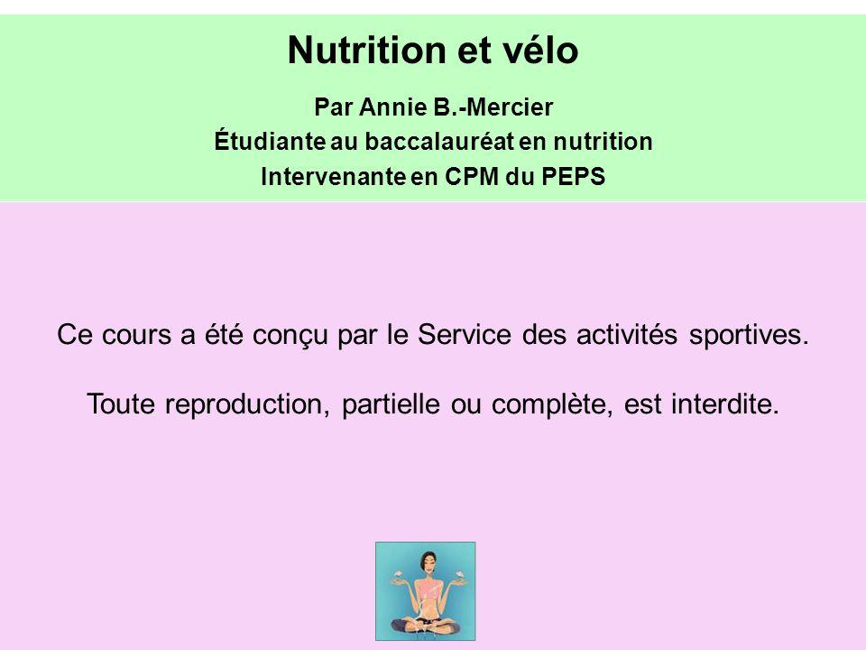 Étudiante au baccalauréat en nutrition Intervenante en CPM du PEPS
