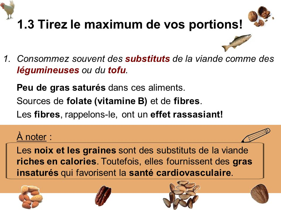 1.3 Tirez le maximum de vos portions!