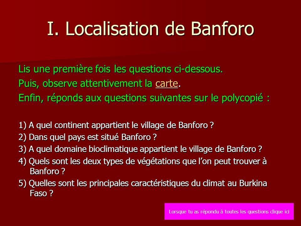 I. Localisation de Banforo