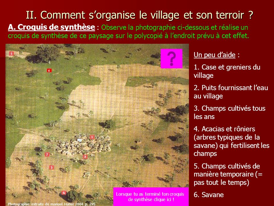 II. Comment s'organise le village et son terroir