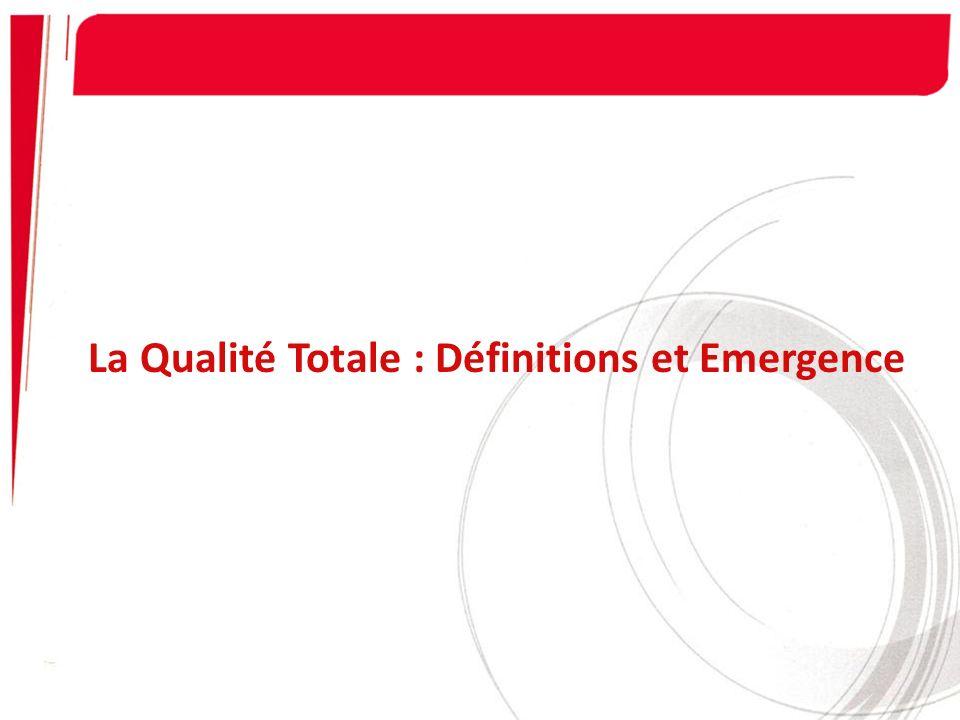 La Qualité Totale : Définitions et Emergence