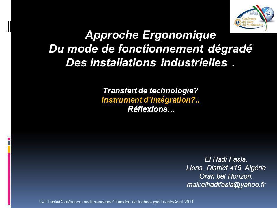 Transfert de technologie Instrument d'intégration ..