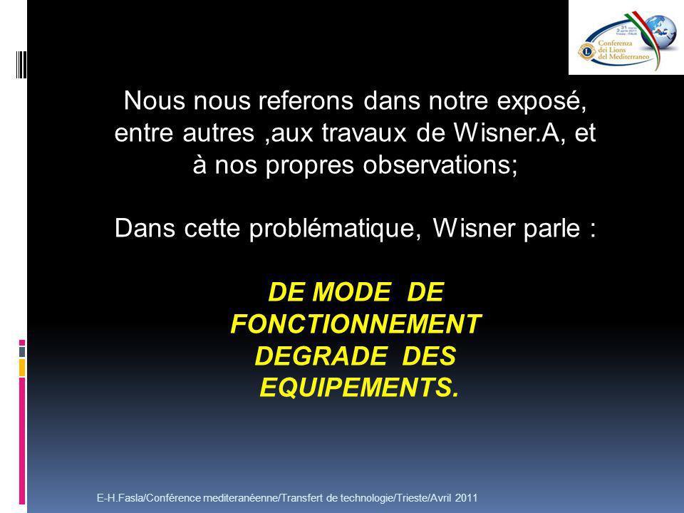 Dans cette problématique, Wisner parle :