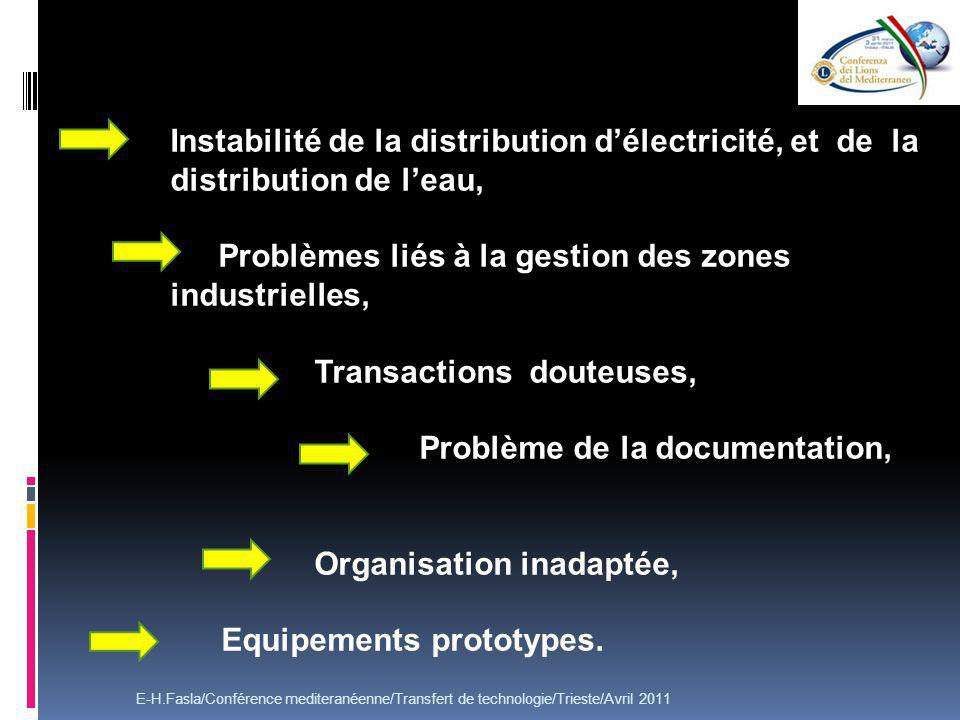 Problèmes liés à la gestion des zones industrielles, ,