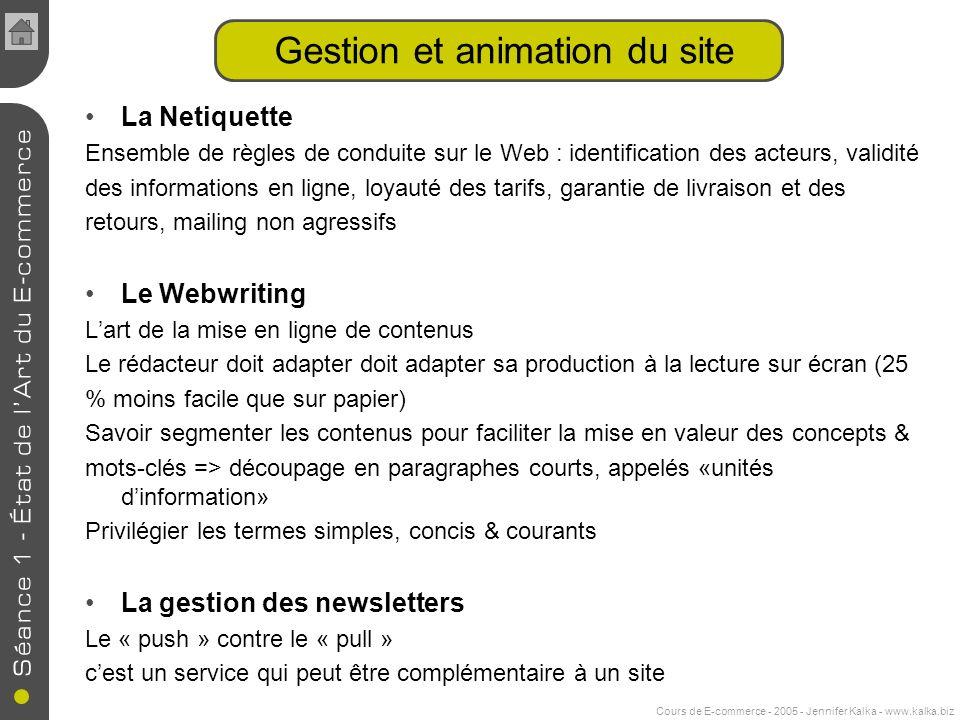 Gestion et animation du site