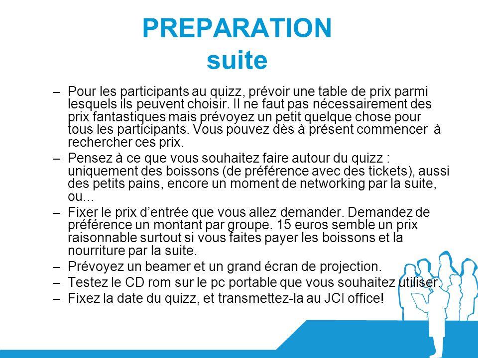PREPARATION suite