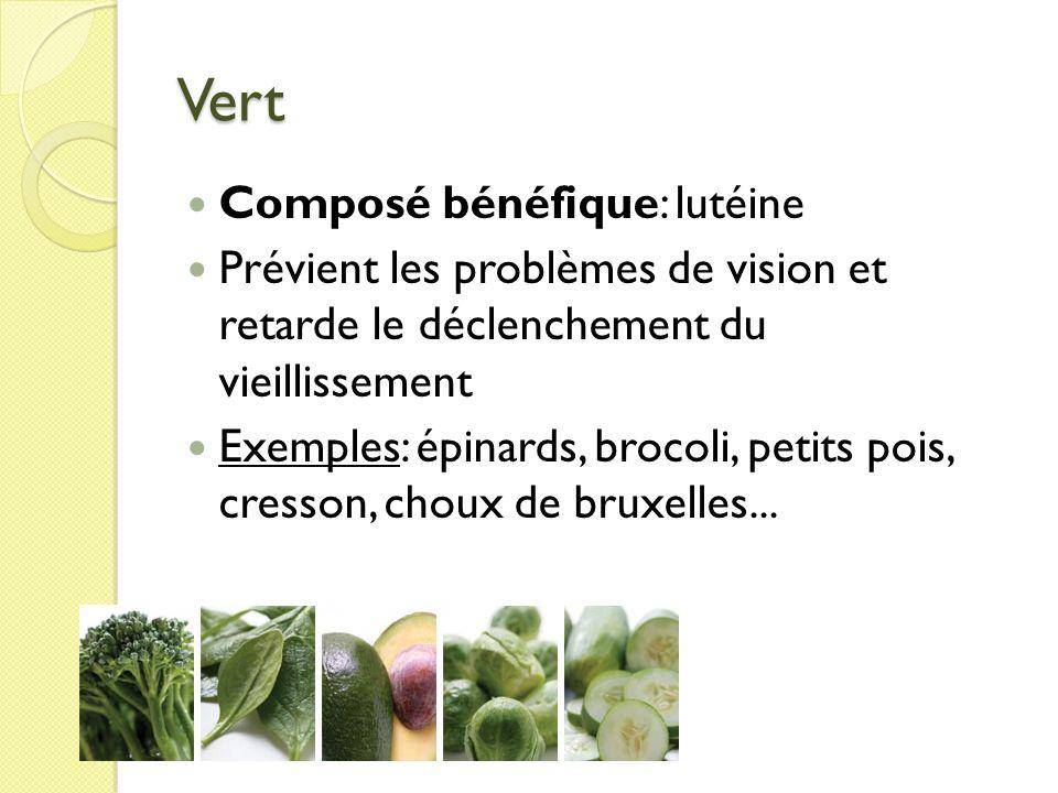 Vert Composé bénéfique: lutéine