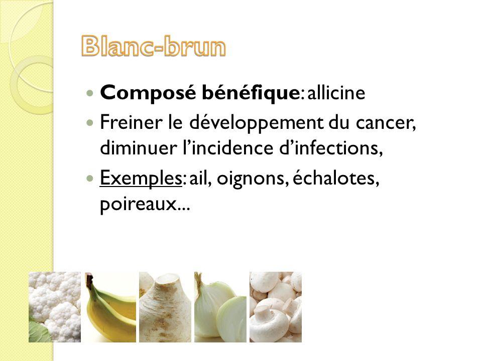 Blanc-brun Composé bénéfique: allicine