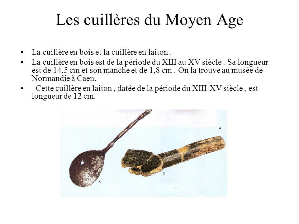 Les cuillères du Moyen Age