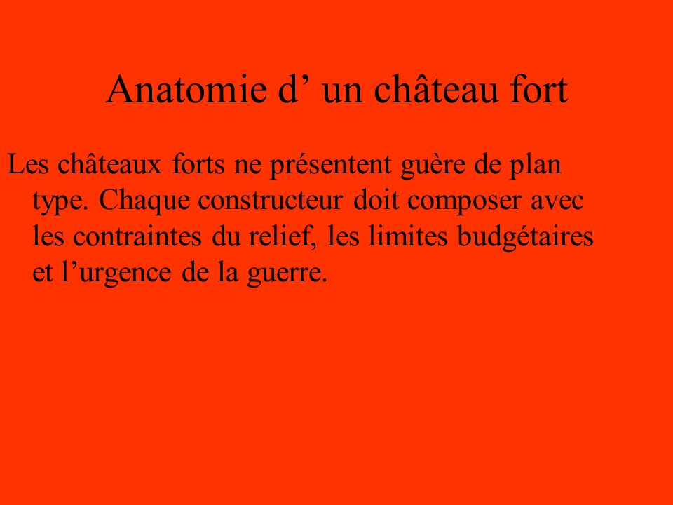 Anatomie d' un château fort