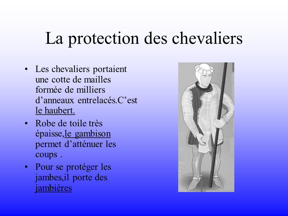 La protection des chevaliers