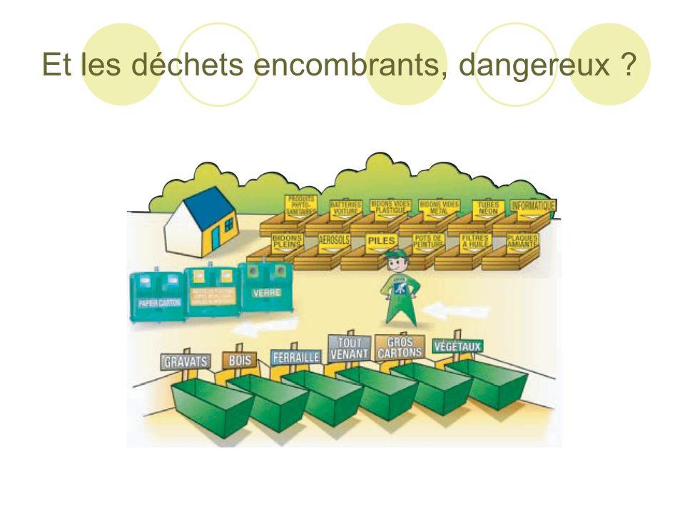 Et les déchets encombrants, dangereux