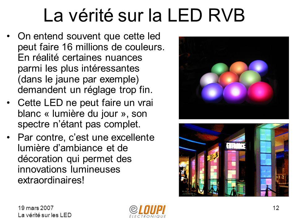 La vérité sur la LED RVB