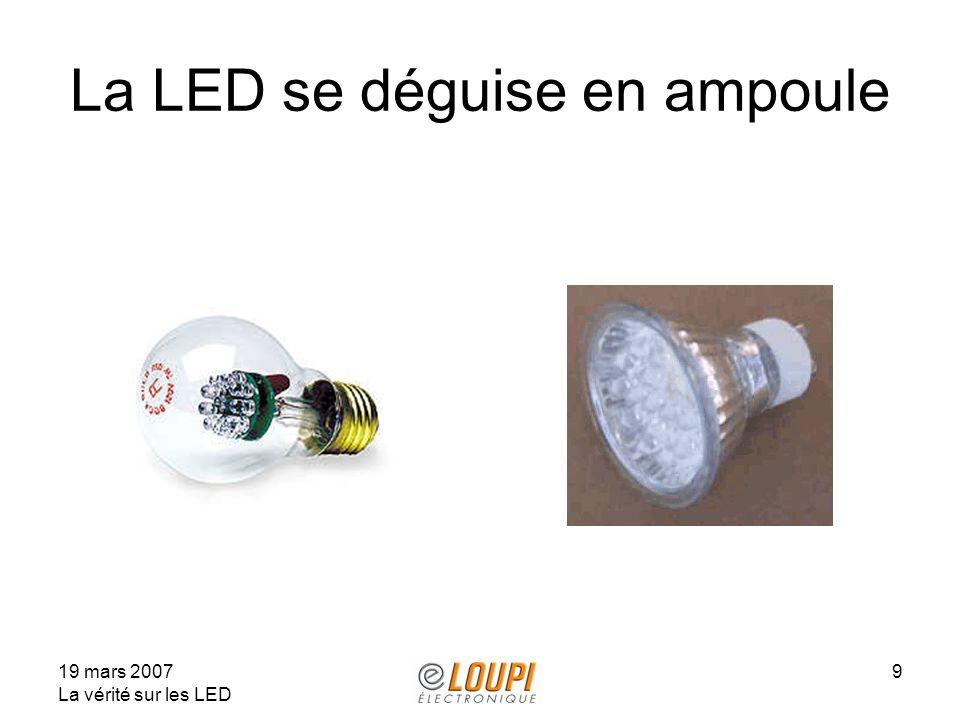 La LED se déguise en ampoule
