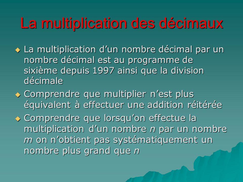 La multiplication des décimaux