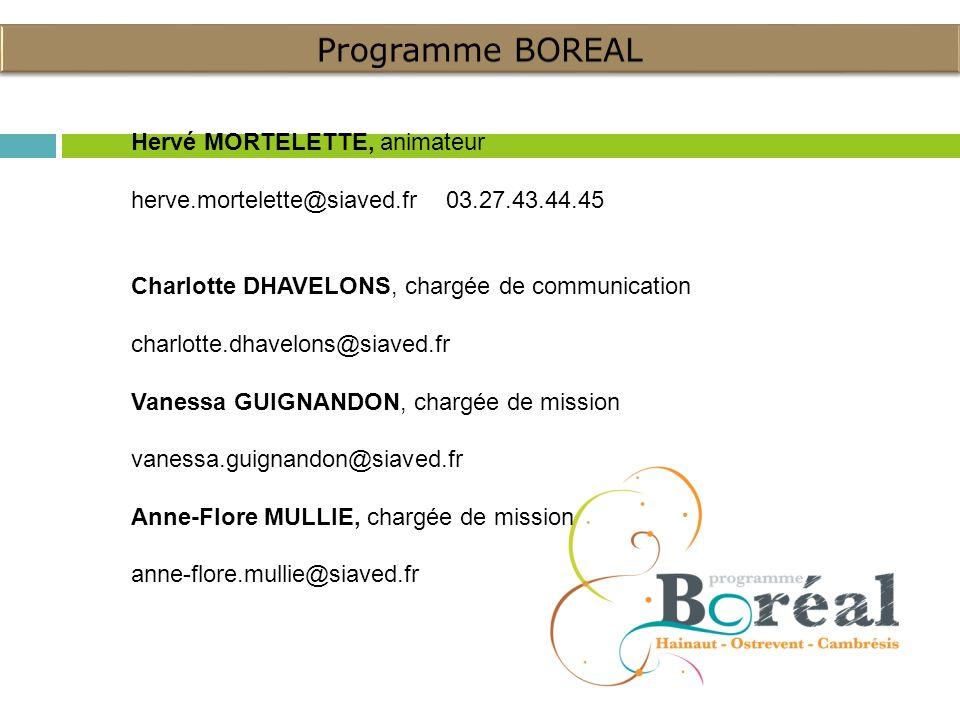 Programme BOREAL Hervé MORTELETTE, animateur