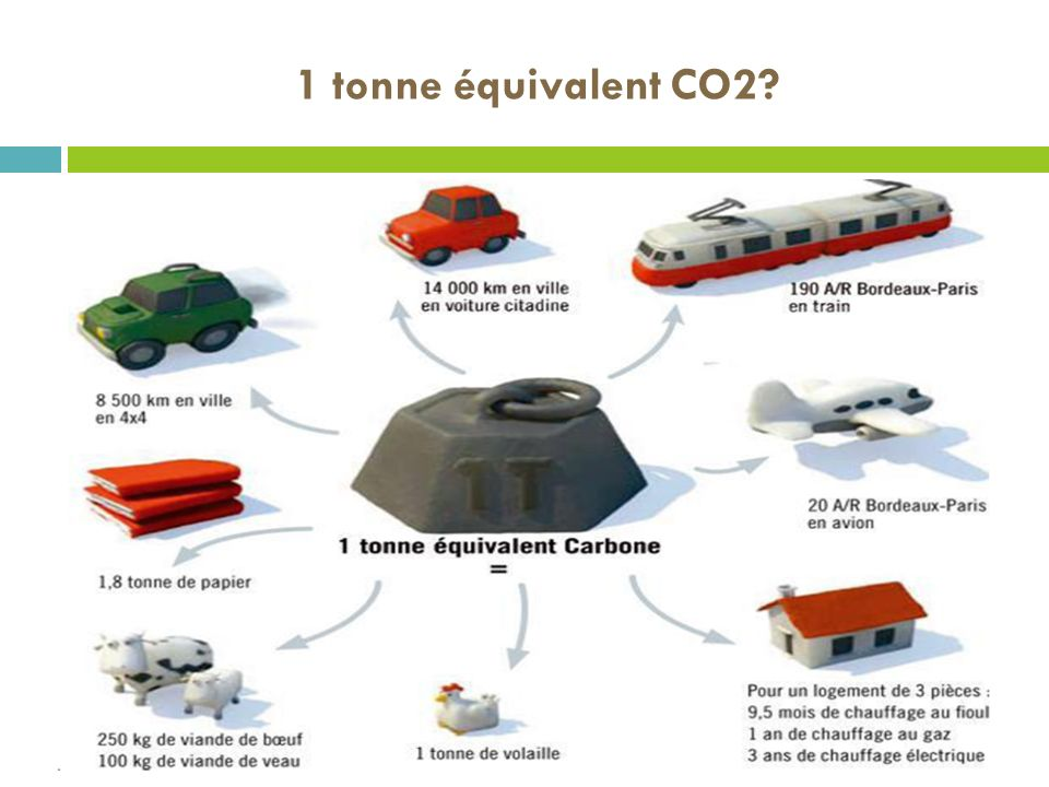1 tonne équivalent CO2