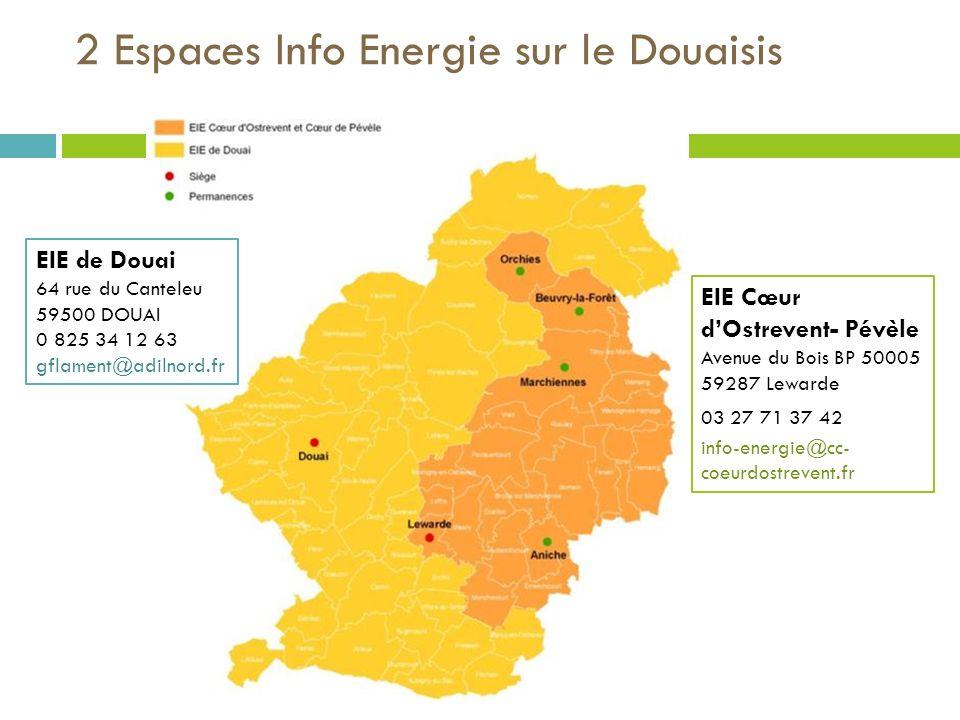 2 Espaces Info Energie sur le Douaisis