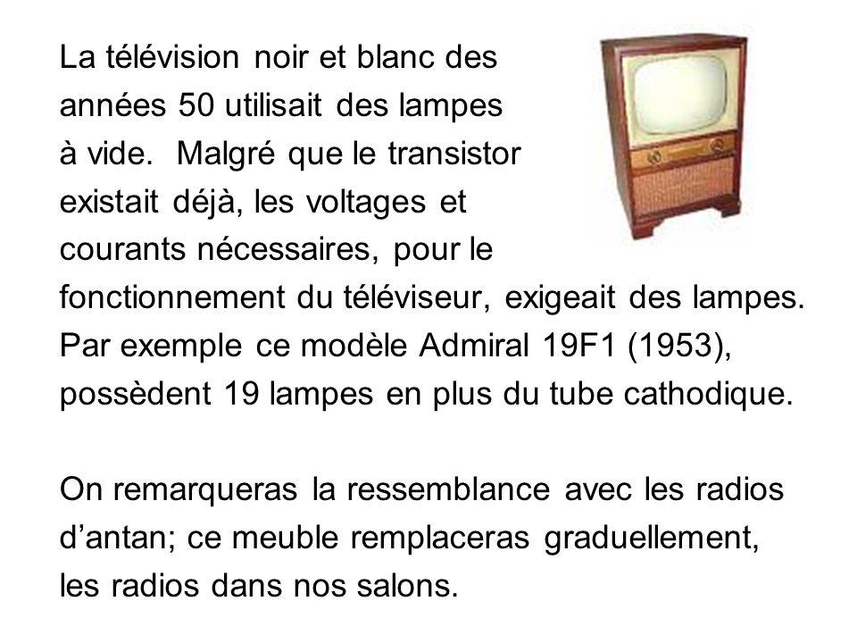 La télévision noir et blanc des