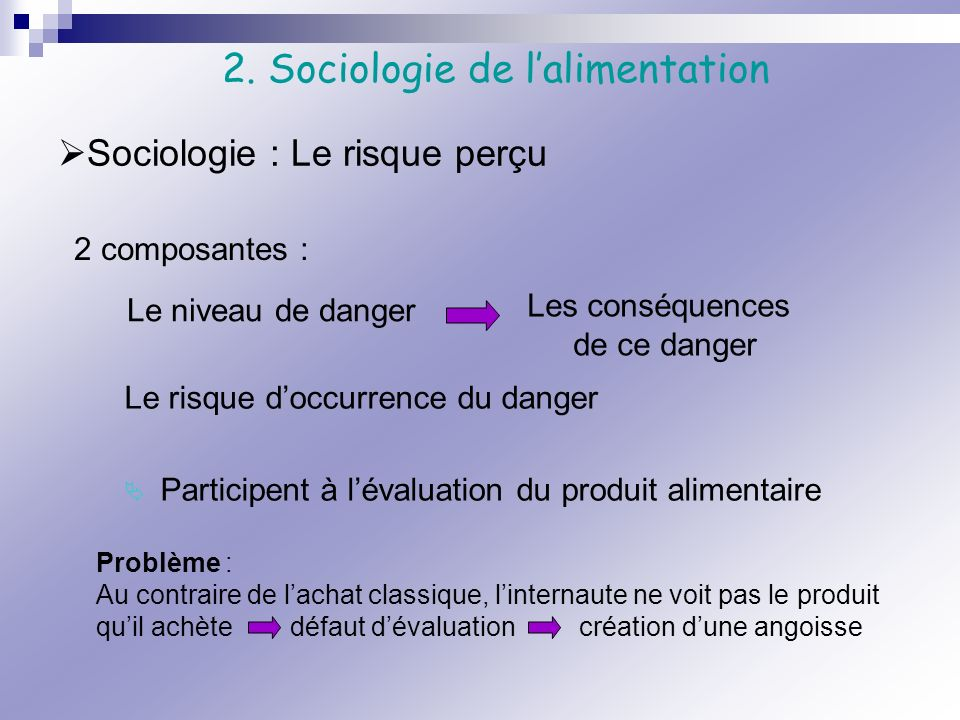 2. Sociologie de l'alimentation