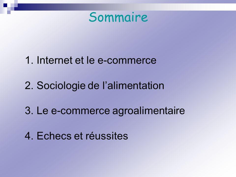 Sommaire Internet et le e-commerce Sociologie de l'alimentation