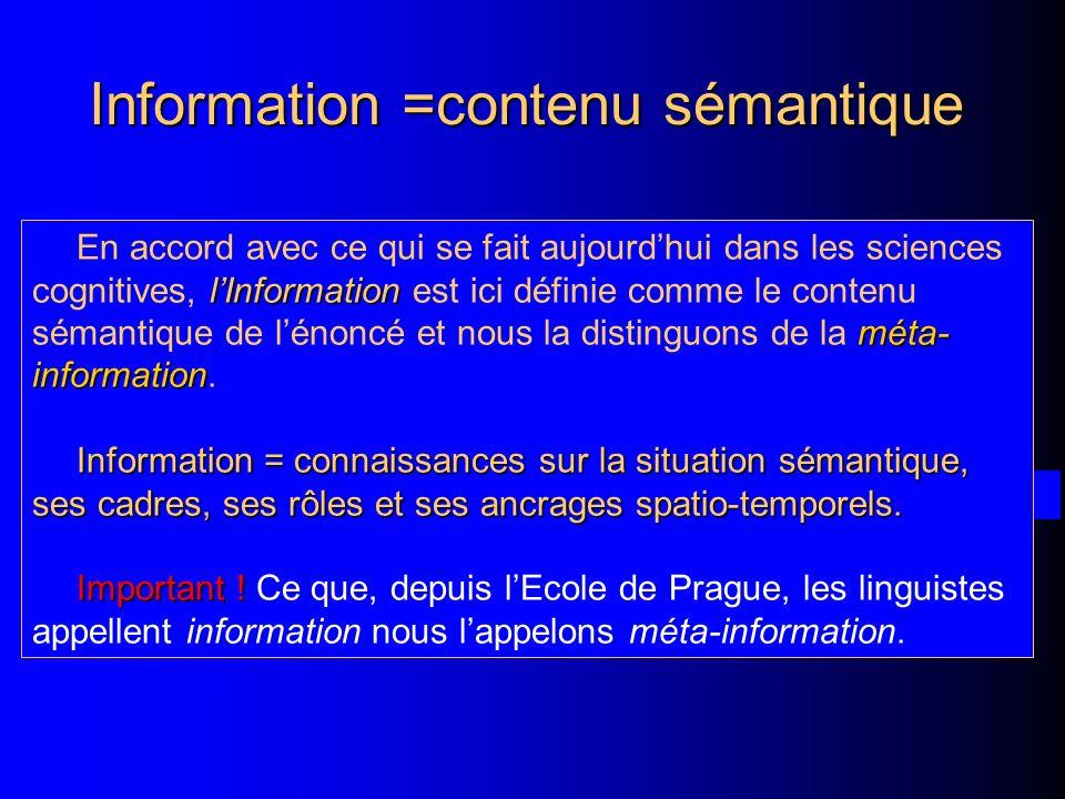 Information =contenu sémantique