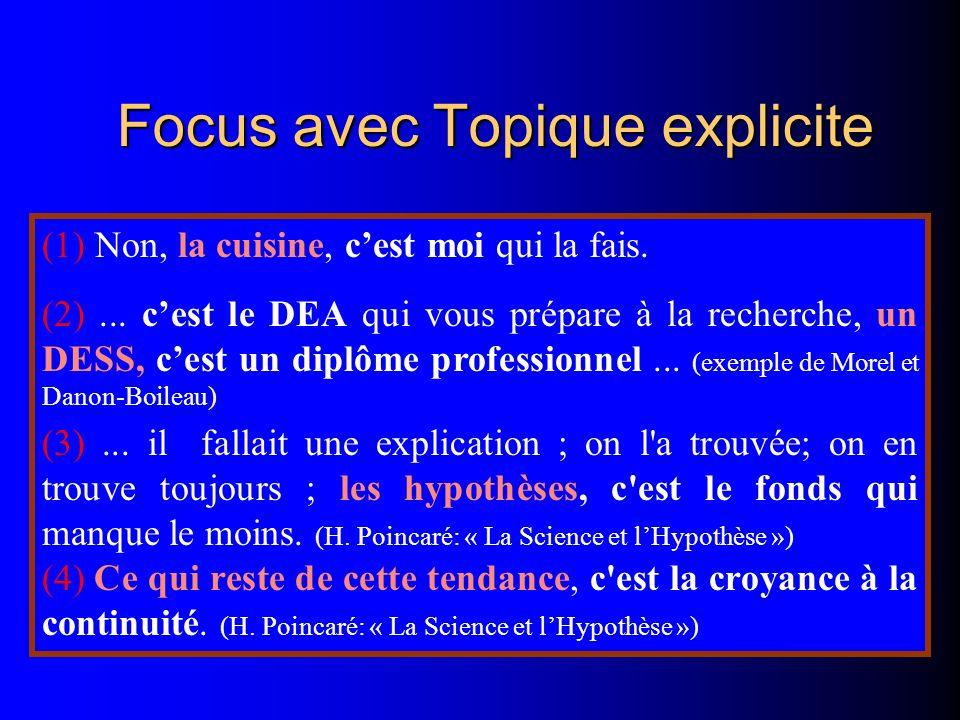 Focus avec Topique explicite