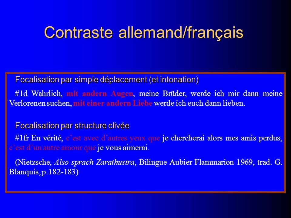 Contraste allemand/français