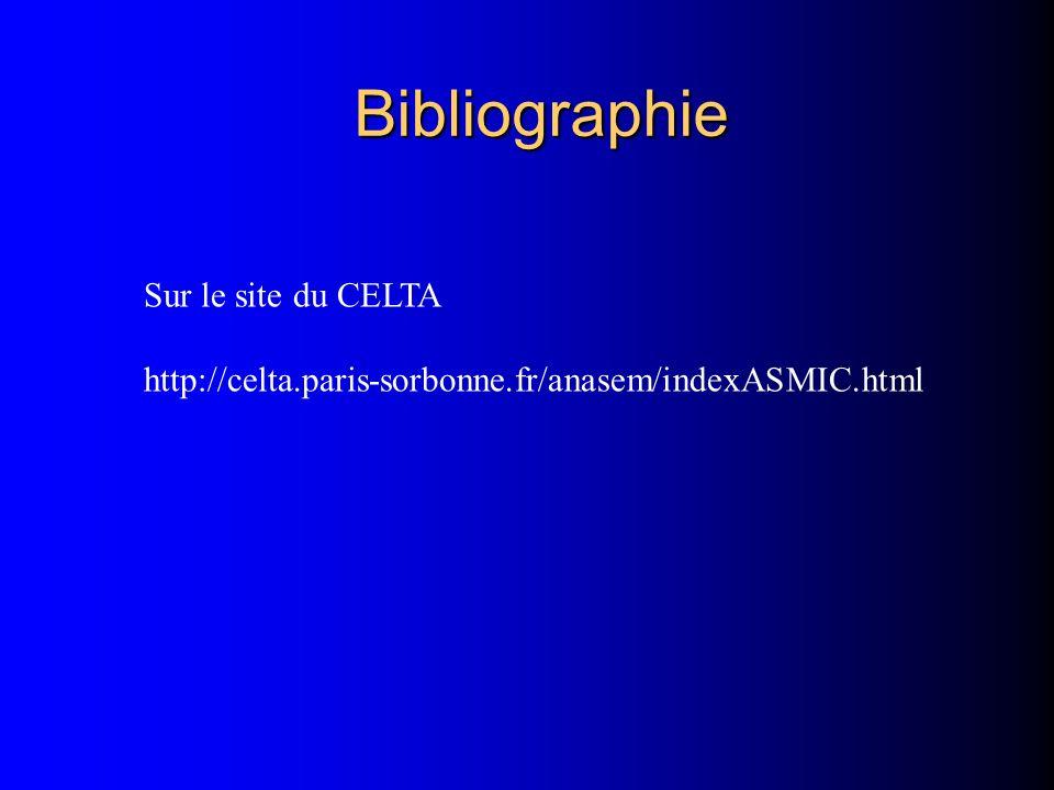 Bibliographie Sur le site du CELTA