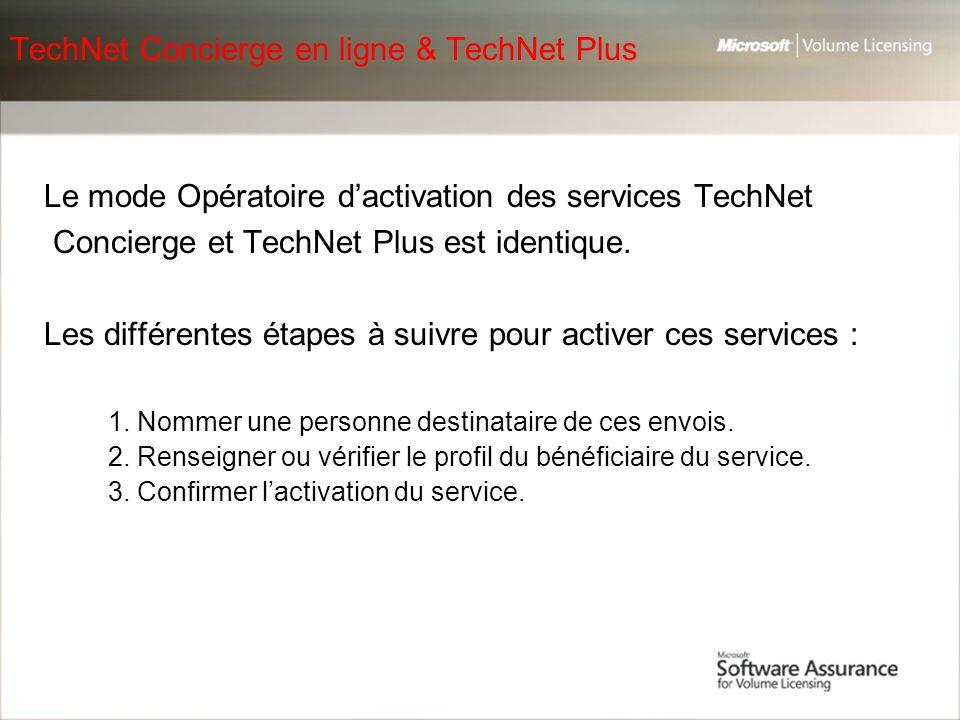 TechNet Concierge en ligne & TechNet Plus