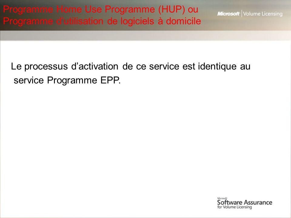 Programme Home Use Programme (HUP) ou