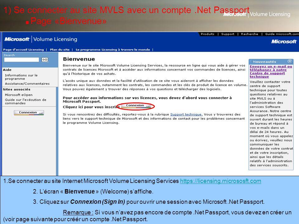 1) Se connecter au site MVLS avec un compte