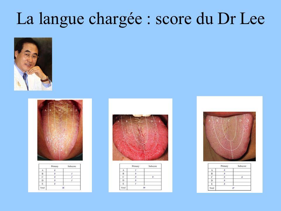 La langue chargée : score du Dr Lee