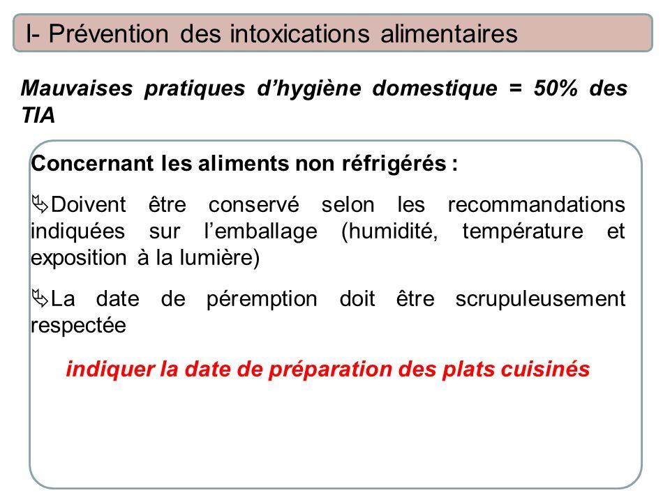 indiquer la date de préparation des plats cuisinés
