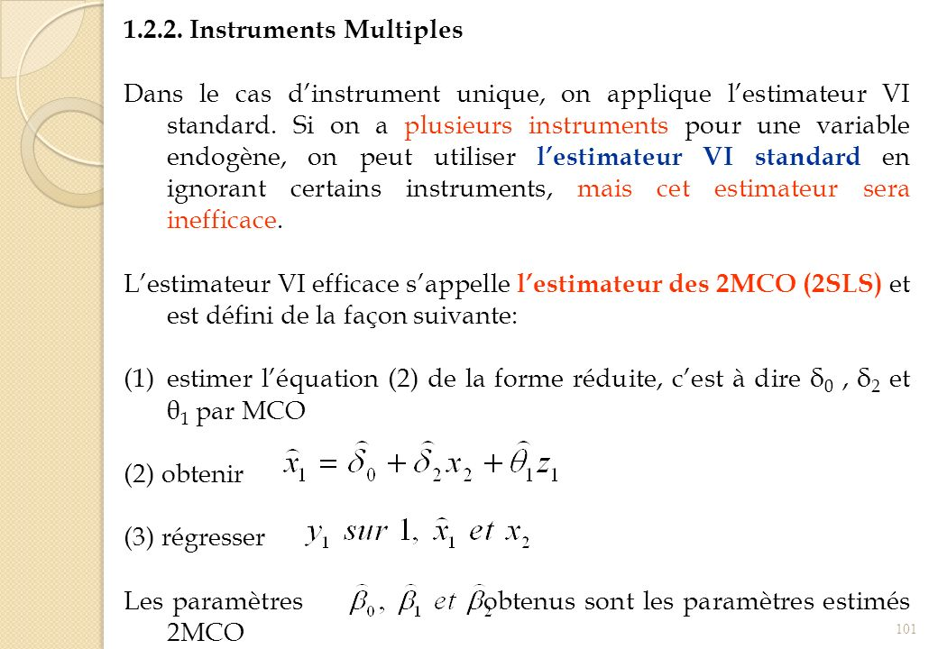 1.2.2. Instruments Multiples